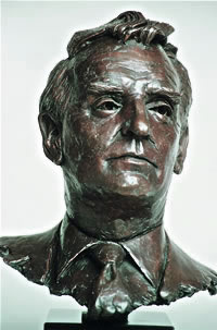 Bill Bruce commissioned bronze bust by Laurence Broderick