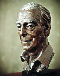 Lord Phillimore commissioned bronze bust by Laurence Broderick