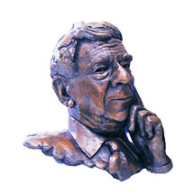 Professor Sir Roy Calne commissioned bronze bust by Laurence Broderick