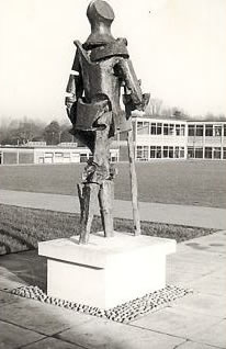 Sculpture of St George Haberdashers' Askes School