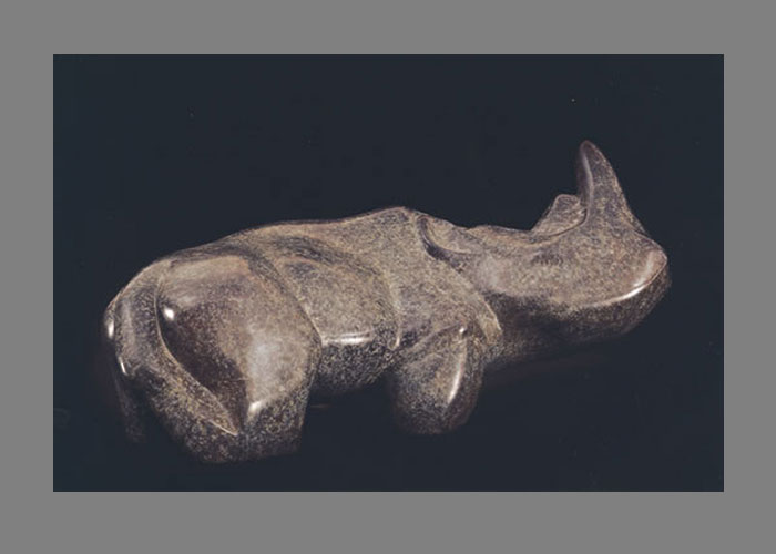Laurence Broderick rhino wildlife sculpture