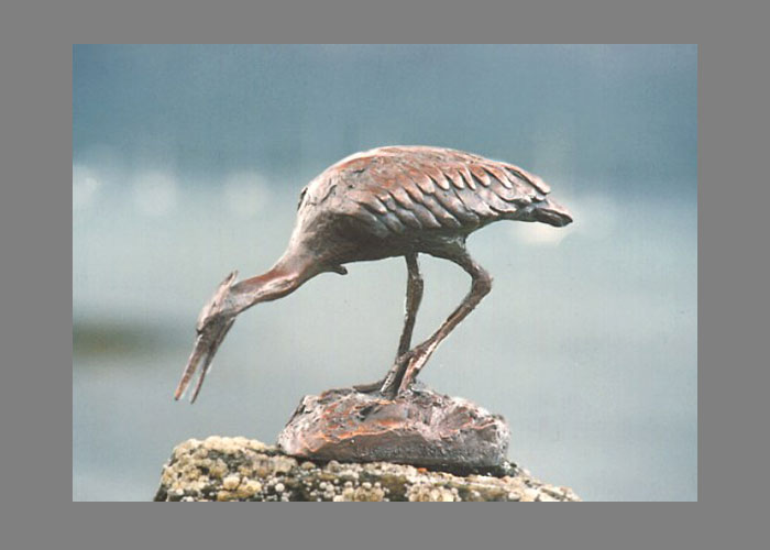 Laurence Broderick heron wildlife sculpture