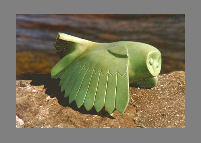 Laurence Broderick barn owl wildlife sculpture